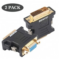 CONNECTOR DVI 24+5 MALE TO VGA FEMALE AD...